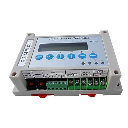 Amazon.com : SZMWKJ Dual Axis Solar Tracker Linear Actuator Controller for Solar Panel System : Garden & Outdoor