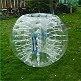 FOSHAN MINGZE 0.8mm Strong PVC Dia 4' (1.2meter) Blue Clear Inflatable Bumper Bubble Soccer Ball for Kids Adults