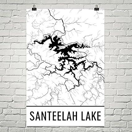 Norht Carolina Map Amazon.com: Santeelah Lake North Carolina, Santeelah Lake NC