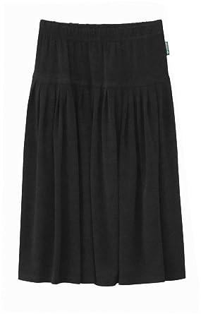 e8530dc3a2 Amazon.com: Baby'O Girl's (Children's) Original Biz Style Below The Knee  Length ITY Slinky Knit Skirt: Clothing