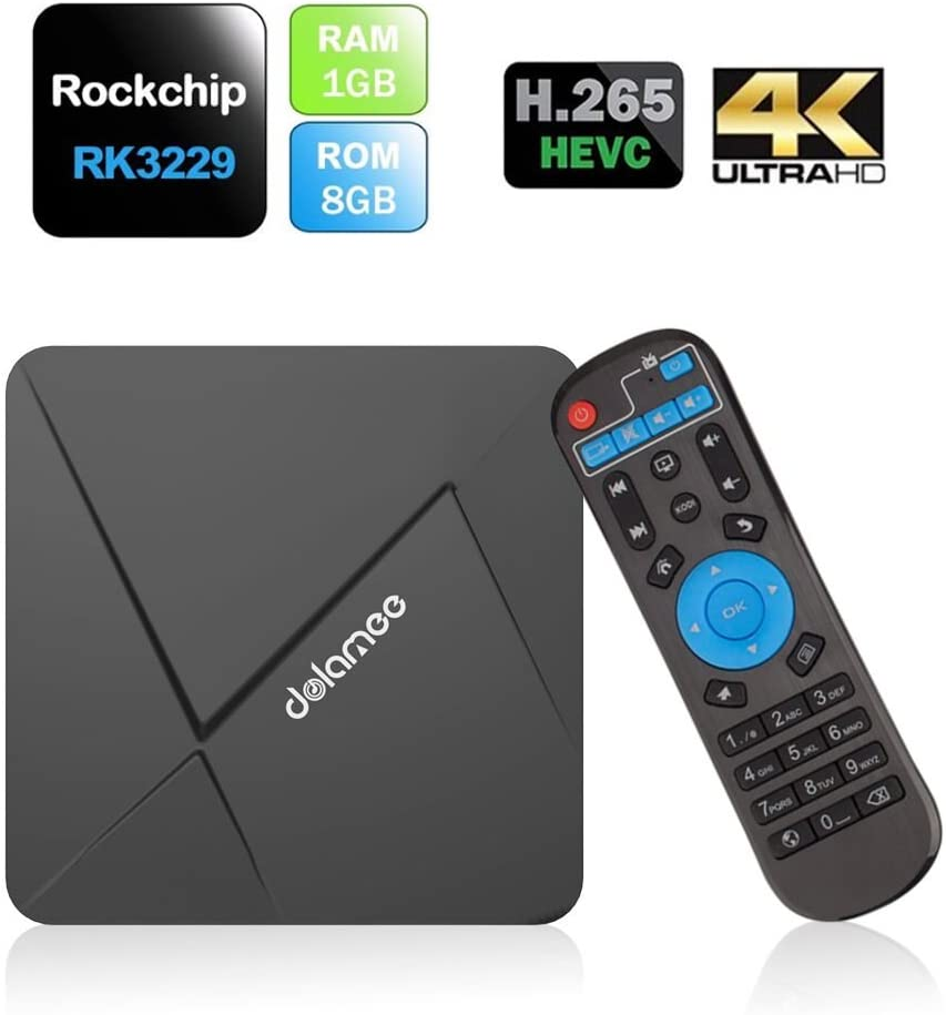 TV BOX Kodi 16.1 con Android 5.1 TV 4K Smart TV CAJA Rockchip RK3229 de cuatro núcleos de Cortex A7 1G / 8G Streaming Media Player TV Box WiFi-HDMI: Amazon.es: Electrónica