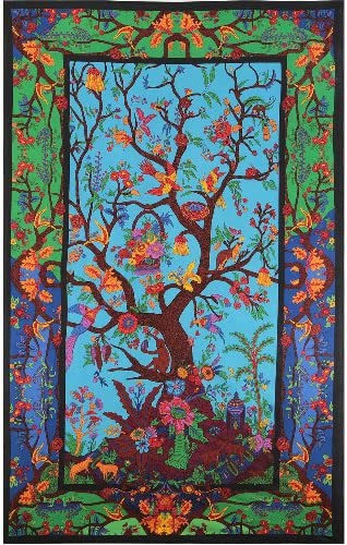 Sunshine Joy 3D Tree Of Life Tapestry Wall Hanging Table Cloth Magical Dorm Decor