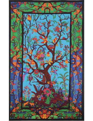 - Sunshine Joy 3D Tree Of Life Tapestry Wall Hanging Table Cloth Magical Dorm Decor - Huge 60x90 Inches