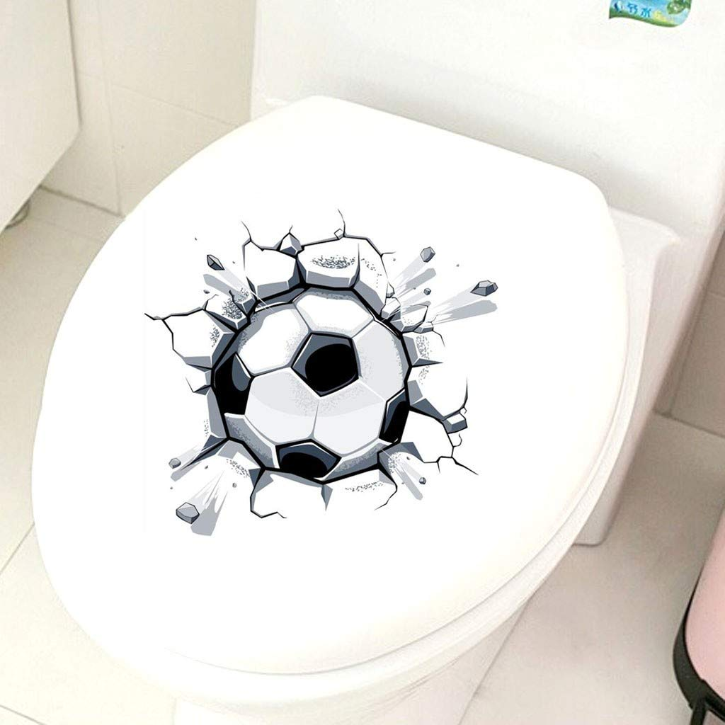 MrTom Pegatinas de Pared 3D Fútbol Vinilo Adhesivo Decorativas ...