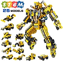 VATOS STEM Building Toys, 573 PCS Robot STEM Toys for 6 Year Old Boys 25-in-1 Engineering Building Bricks Construction...