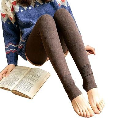 Vdual Leggings pour Femmes Pantalons de Leggings élastiques pour Le Velours  Chaud d hiver 96538ba0308