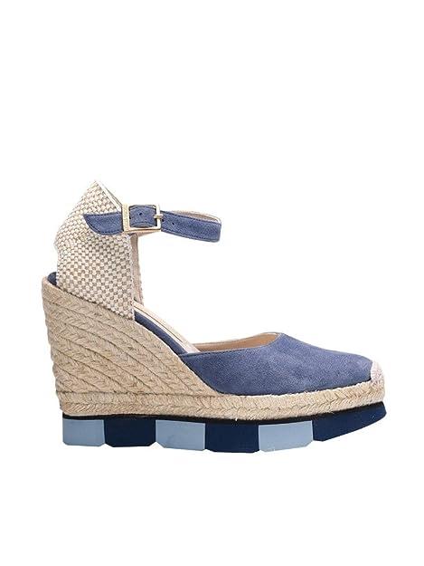 70571377 Paloma Barceló Mujer M2cmsuj1 Azul Claro/Beige Gamuza Zapatos De Cuña:  Amazon.es: Zapatos y complementos