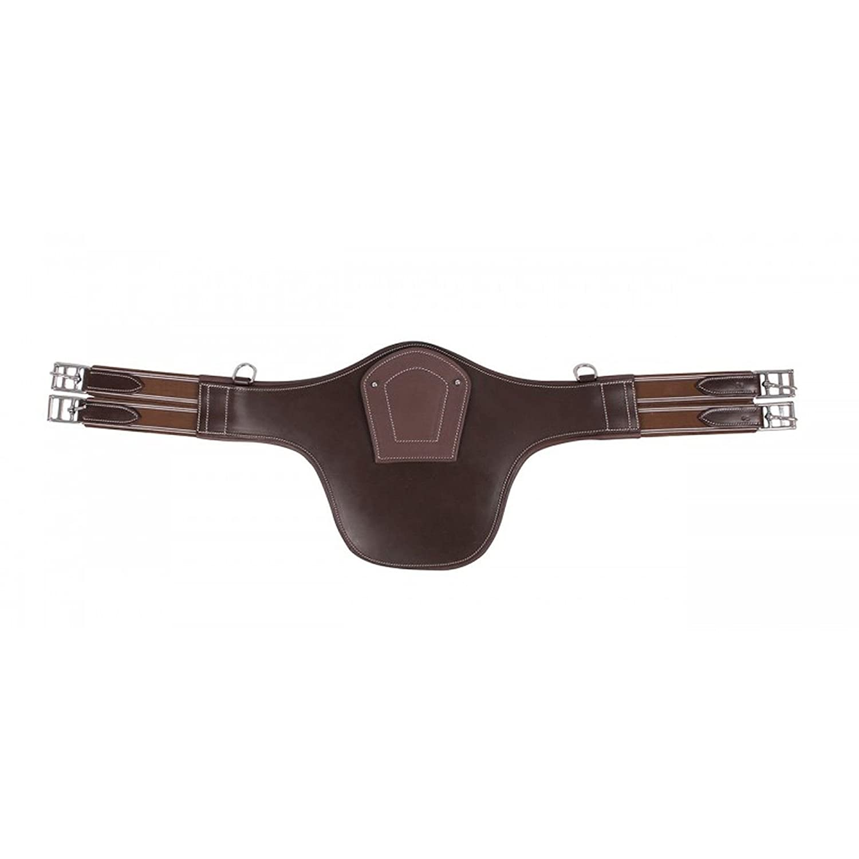 QHP Sattelgurt Springschutz Stollenschutzgurt Save Leder
