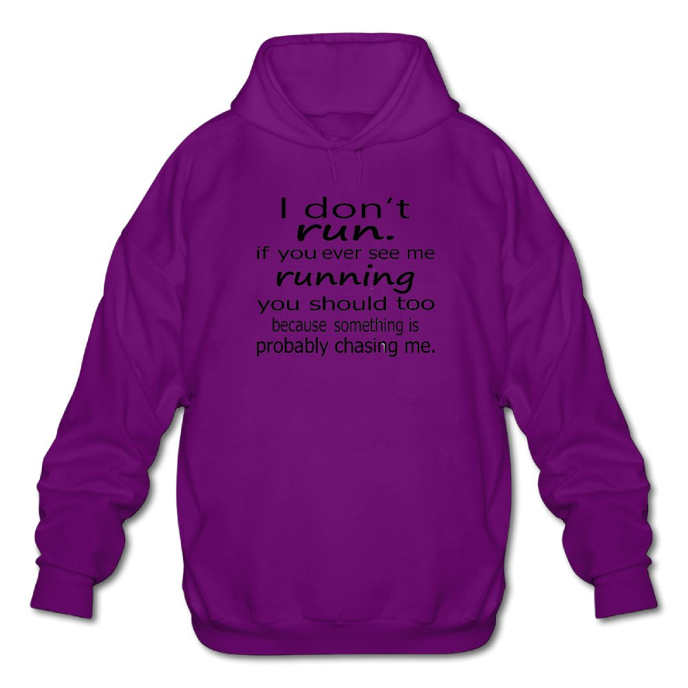 Mens Long Sleeve Cotton Hoodie I Dont Run If You See Me Running You Should.png Sweatshirt