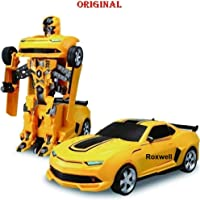 VOODANIA Battery Operated Converting Car to Robot, Robot to Car Automatically,Transformer Toy, with Light and Sound for Kids