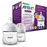 Philips Avent Natural Baby Bottle for Newborn Babies (0m+) with Newborn Flow Teat, BPA Free, 125ml, 2 Bottles, SCF030/27