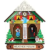 Bavarian Weather House - Collectible Figure w/ Thermometer For Table Or Wall