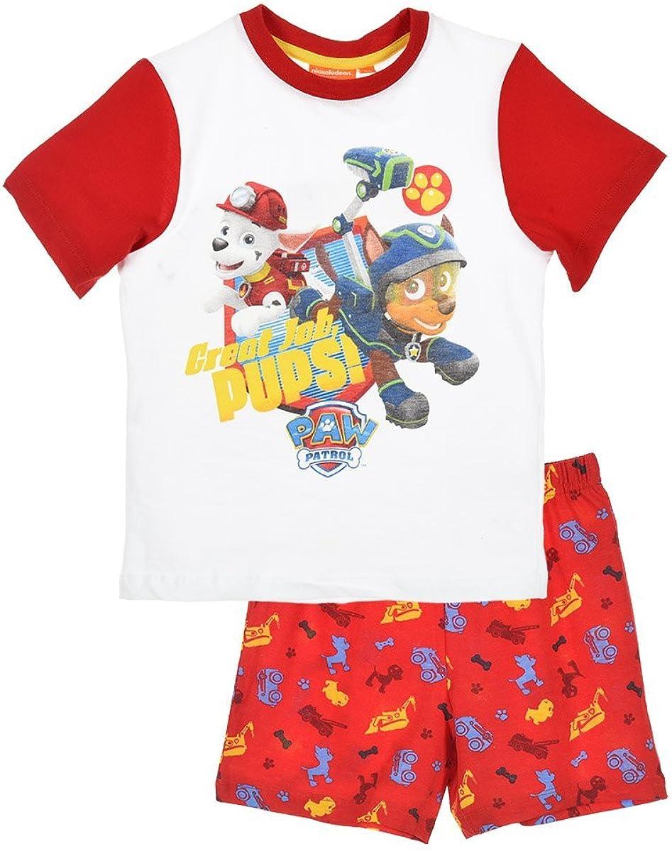 Pat Patrouille Pyjama Gar/çon Manches Courtes Rouge