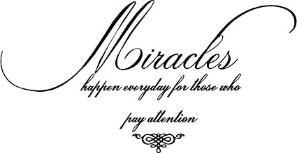 quote it miracles happen everyday vinyl wall quotes faith inspirational sayings