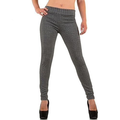Mujer Pantalones, rinascimento treggings Pantalones, MKL de 22515 gris XL