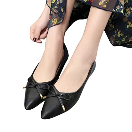 fdc35ef4622d2 Amazon.com: Baigoods Hot Sale! Women Spring Bowknot Casual Shoes ...