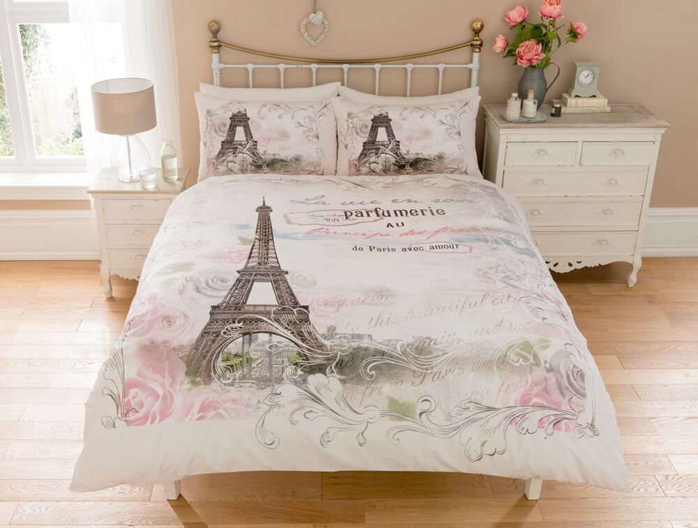 Single Double King Grey Yellow Pink Geometric Feathers Duvet Cover Set
