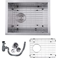 KES SUS 304 Stainless Steel Kitchen Sink Single Bowl Undermount Deep 16 Gauge Zero Radius with Drain Stainer Basket and Bottom Grid Protector 14 x 18 x 8 Inch European Contemporary Style, UB3646-C1