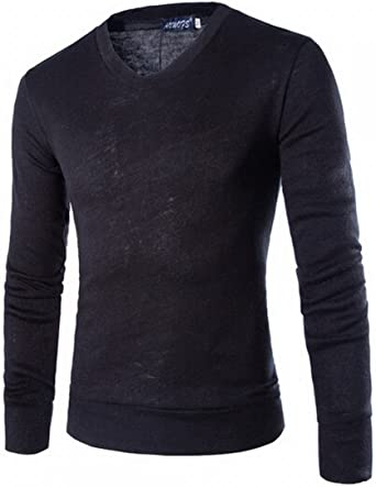 XQS Mens Basic Pullover Sweaters Slim Thermal Turtleneck Tee Tops