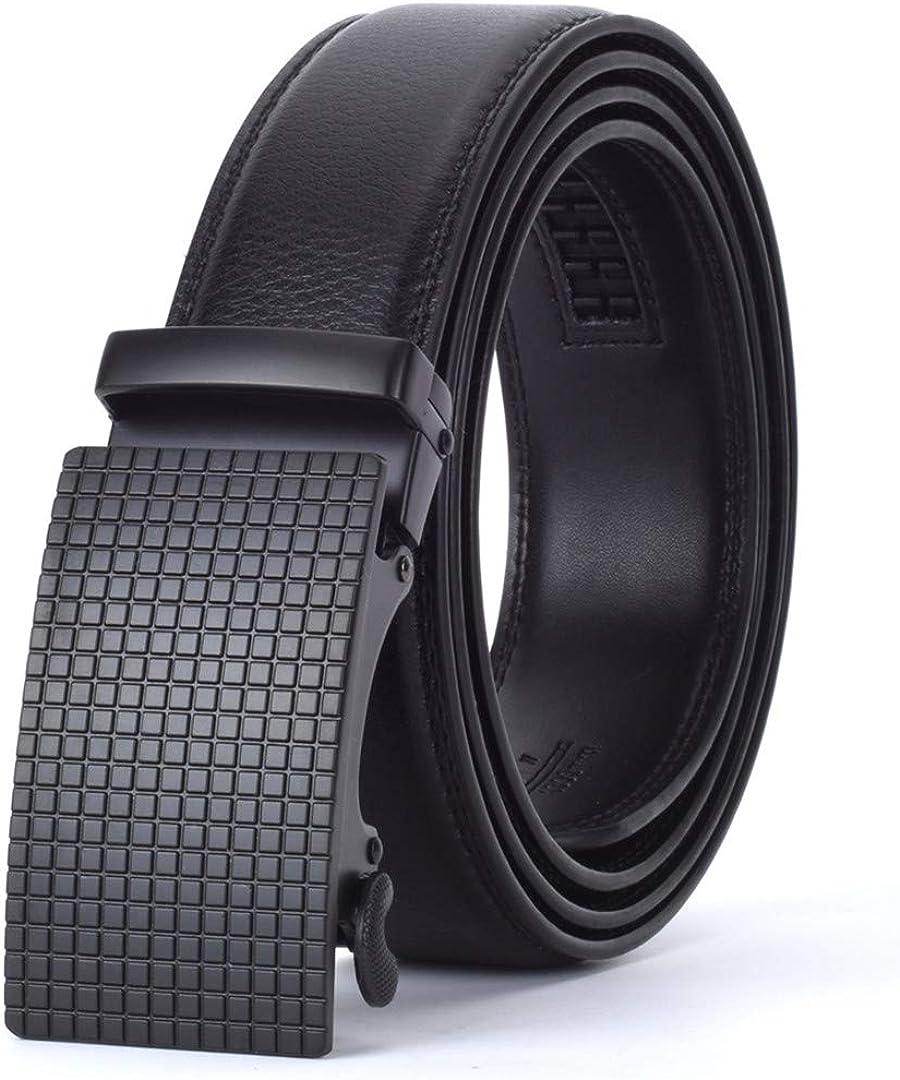 JUIHUGN Designers Men Automatic Buckle Leather Luxury Belt Business Male Alloy Buckle Belts for Menhomme R 130cm