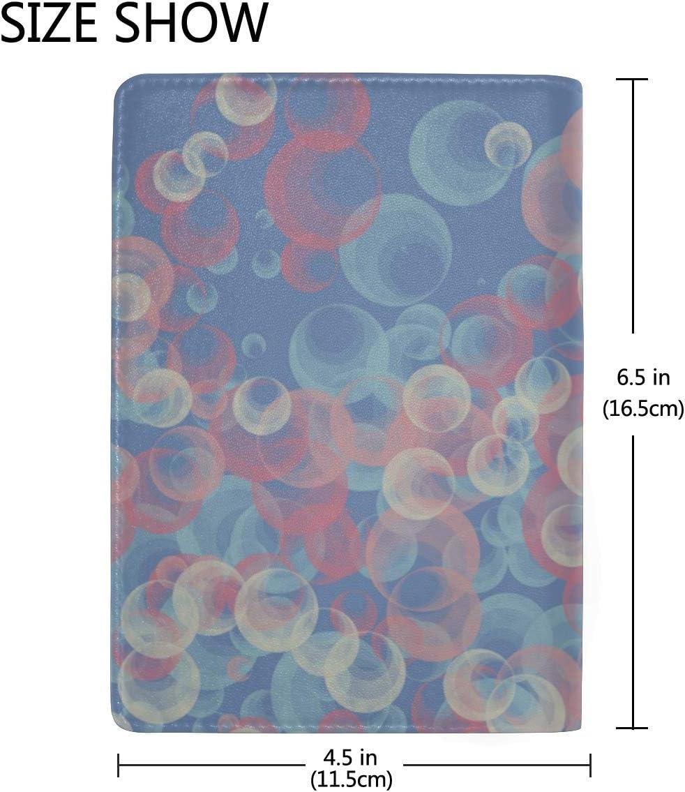 Usa Passport Case Beautiful Bubble Soap Bubbles Stylish Pu Leather Travel Accessories Passport Hard Case For Women Men