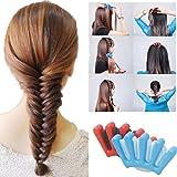 HENGSONG Foam Sponge Clip Hair Styling Tool DIY Hair Twist Styling Braiding Tool (Blue)