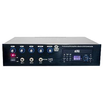 Amazon.com: Pyle Home pd750 a Professional PA amplificador ...