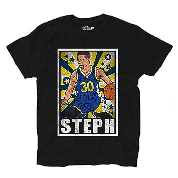 KiarenzaFD Camiseta Camiseta Baloncesto Vintage Parodia Stephen ...