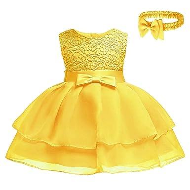 48b50461bba75 Amazon.co.jp: KINDOYO ガールズプリティドレス - 新生児の女の子のチュールのちょう結びウエディングパーティー チュチュプリンセスドレス  服&ファッション小物