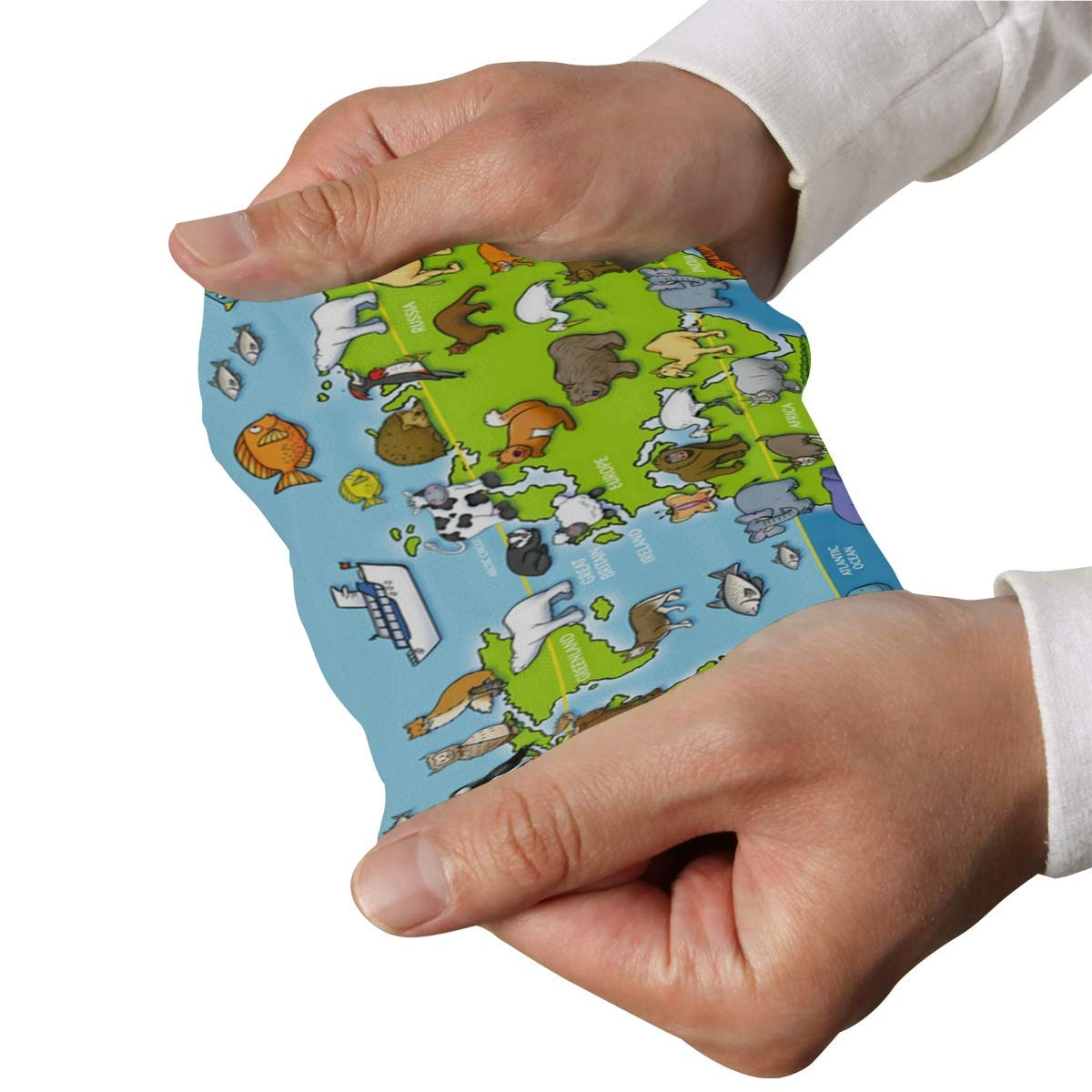Arm Sleeves Animals Map of The World Mens Sun UV Protection Sleeves Arm Warmers Cool Long Set Covers White