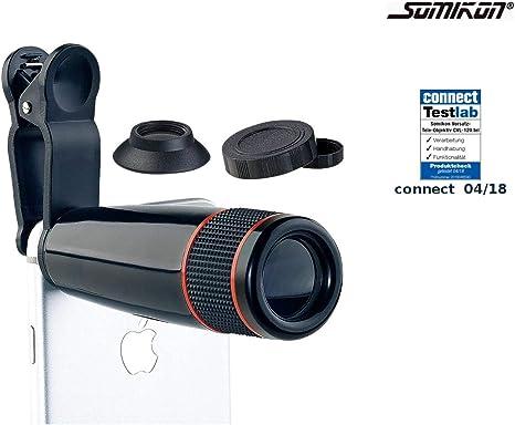 Somikon - Teleobjetivo para smartphone (zoom óptico de 12 aumentos ...