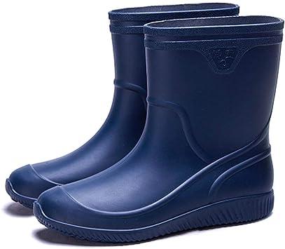 WGE Botas De Jardín para Hombres, Impermeables, Antideslizantes, Botas De Lluvia Cortas, Zapatos De Lavado De Autos para Hombres: Amazon.es: Deportes y aire libre