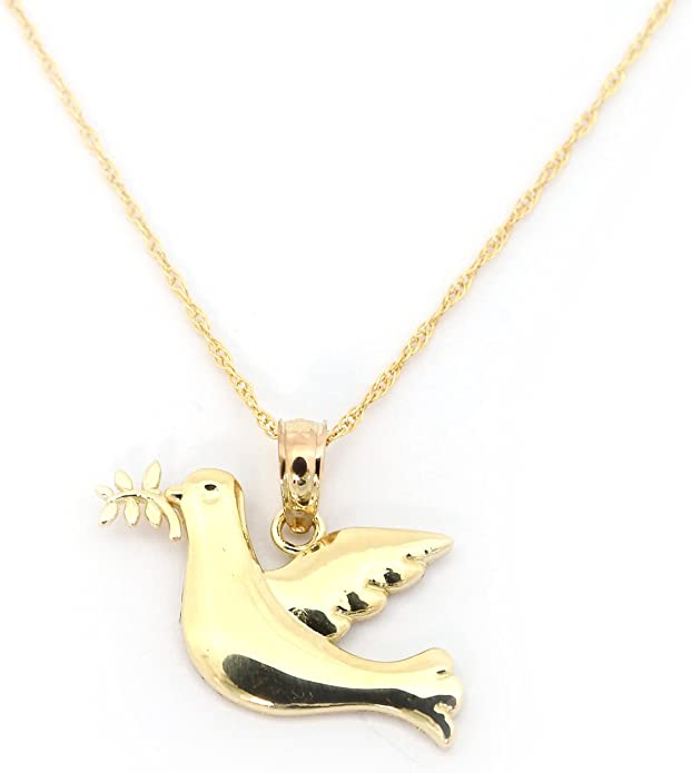 Cute!! Duck Solid 14K Yellow Gold Puffy 2 Sided Charm//Pendant New