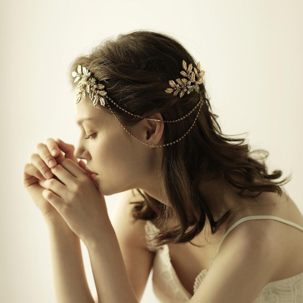 2 Stück DIY Braut Haarschmuck Kopfschmuck Legierung