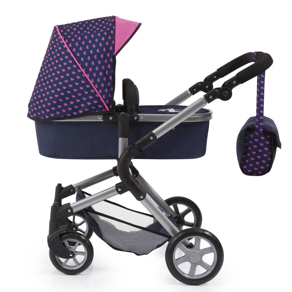 Bayer Design 18154AA City Neo Dolls Pram with Changing Bag, Blue/Pink by Bayer (Image #9)