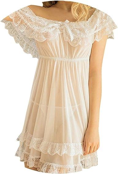 Vintage Night Gown Chiffon Short Nightgown