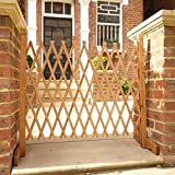 Expanding Fence 90cm High Solid Wooden Protection Indoor Outdoor Garden