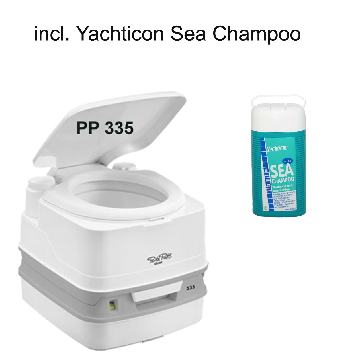 Thetford Porta Potti 335 weiß incl. Yachticon Sea Champoo