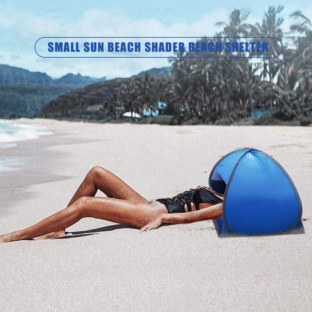 Sonnenschutz f/ür das Gesicht Strandmuschel UPF 50+ UV Baby Sonnenschutz Strandzelt mit Aufbewahrungstasch Pop-Up-Strandzelt kleiner Sonnenstrand-Shader
