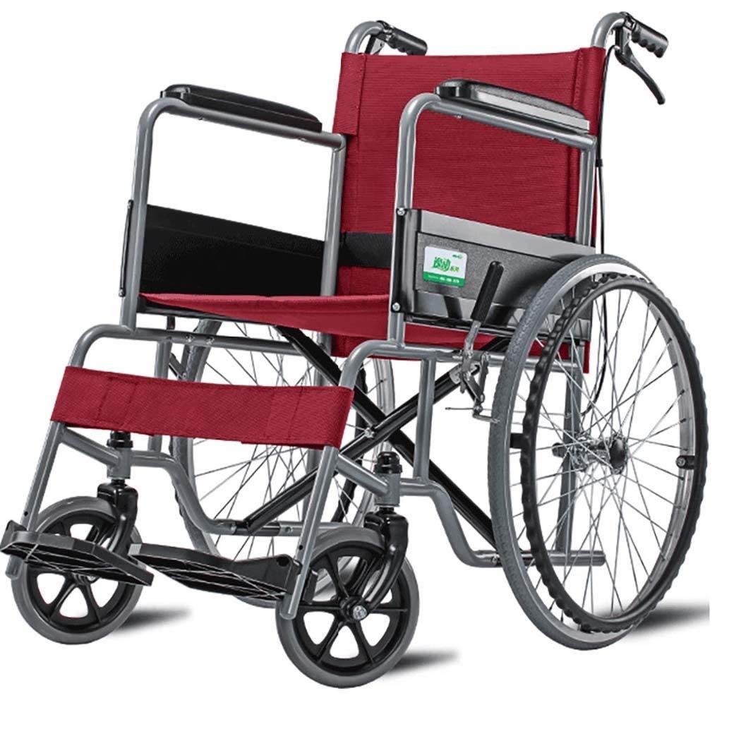 HSBAIS ラグジュアリードライブ医療輸送車いす軽量折りたたみ、強くて丈夫なスチールパイプは、レッグレッグを上げます,16
