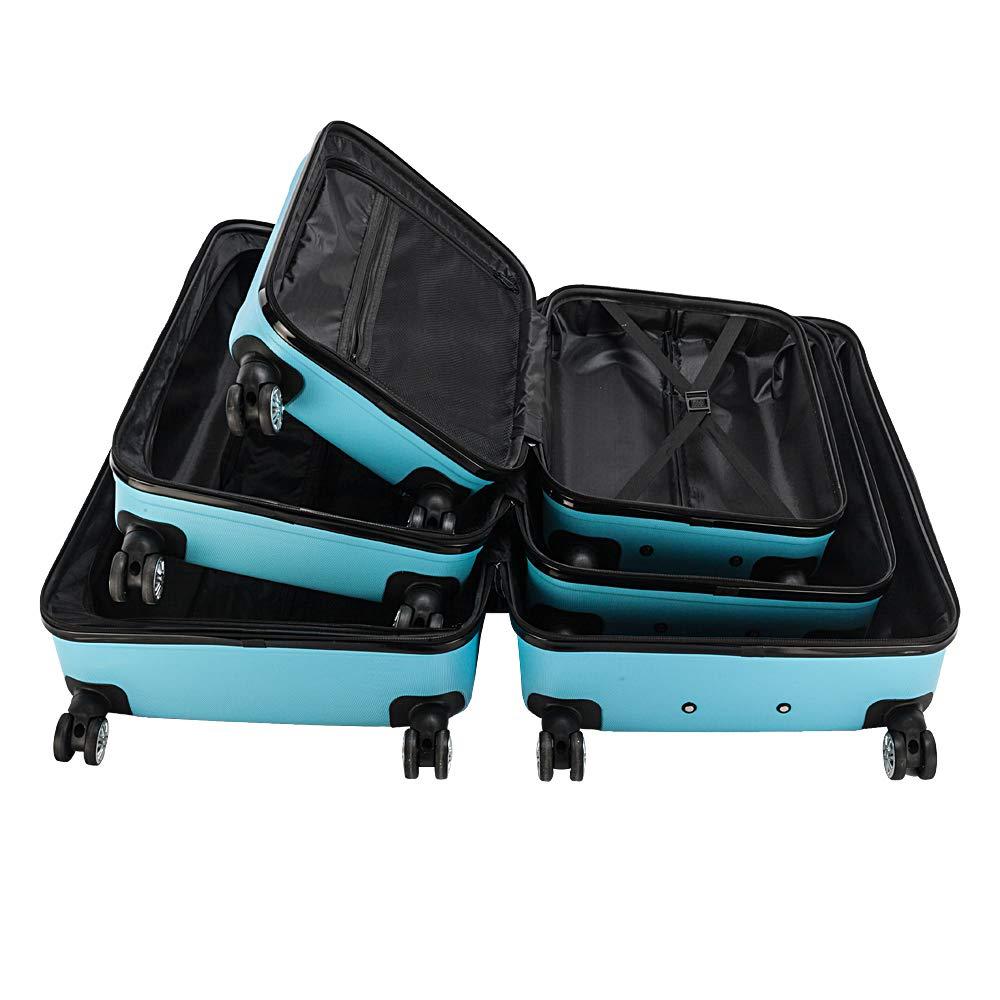 Lovinland Travel Luggage 3 Piece Set 20 24 28 Storage Suitcase