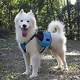 Pidsen Dog Pack Saddle Bag Adjustable Carrier Backpack Vest with Food Water Bowls For Travel Hiking Camping