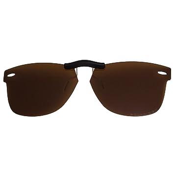 9e5ededc045c Custom Polarized Clip On Sunglasses For RayBan Wayfarer RB5121 (47mm) 47-22-145  47x22 (Bronze Brown)