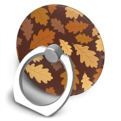 amazon com pop xq7 autumn oak leaves pattern cell phone ring stand