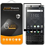 [2-Pack] Supershieldz For Blackberry Keyone Tempered Glass Screen Protector, [Full Screen Coverage] Anti-Scratch, Bubble Free, Lifetime Replacement Warranty (Black)