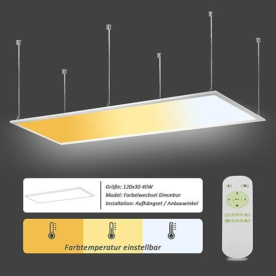 Oubo Deckenlampe Led Panel Deckenleuchte Farbwechsel Pendelleuchte