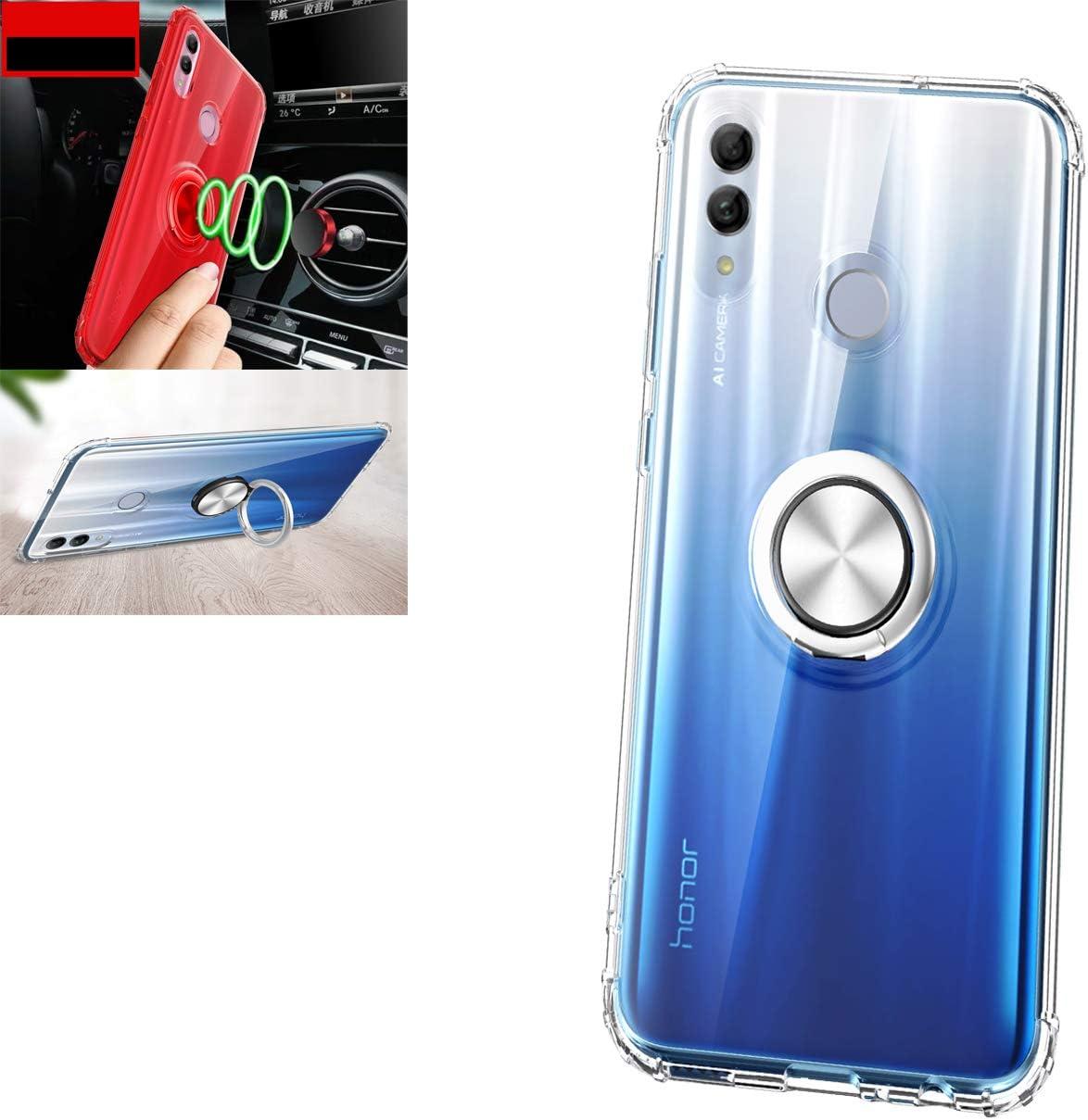 Funda Para Huawei Honor 10 Lite P Smart 2019 Case 360 Grados Giratorio Finger Ring Holder Montaje De Coche Magnético Silicona Antichoque Tpu Pc Cover Para Huawei Honor 10 Lite P Smart 2019 Case Transparente