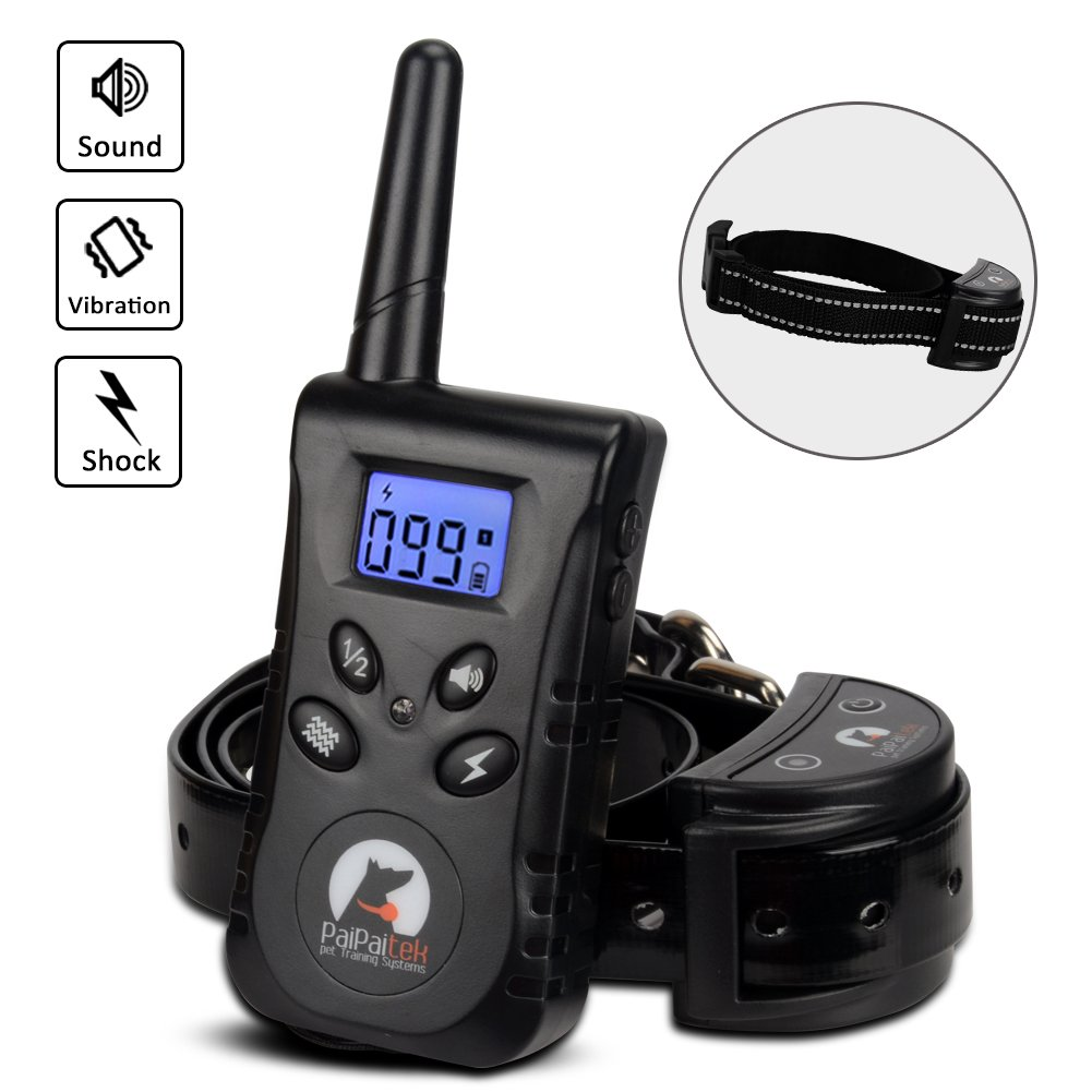 Nigecue Dog Training Collar with Remote, Two Dog Collar, Waterproof and Rechargeable Bark Collar, 500 Yard Remote for Small Medium Dogs,Beep Vibration and Shock Electronic Collar 3 Training Modes