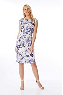 93cdaed71d2e Roman Originals Floral Print Lace Dress - Ladies Everyday Smart Casual Work  Office Meeting Wedding Guest