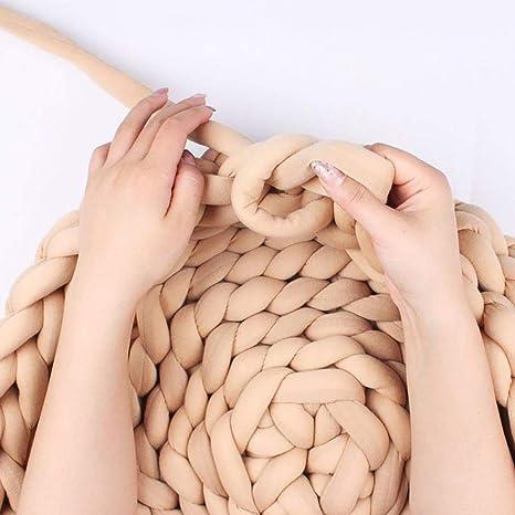aheadad Hecho a Mano DIY Bufanda Almohada Manta de Crochet ...
